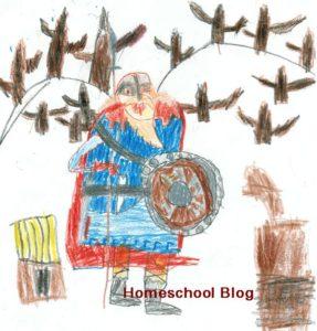Zeichnung von Wikinger, Viking Drawing, Homeschool Blog, Jan und Bernice Zieba
