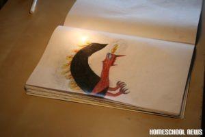 Drachen-Zeichnung, Homeschool News, Jan und Bernice Zieba