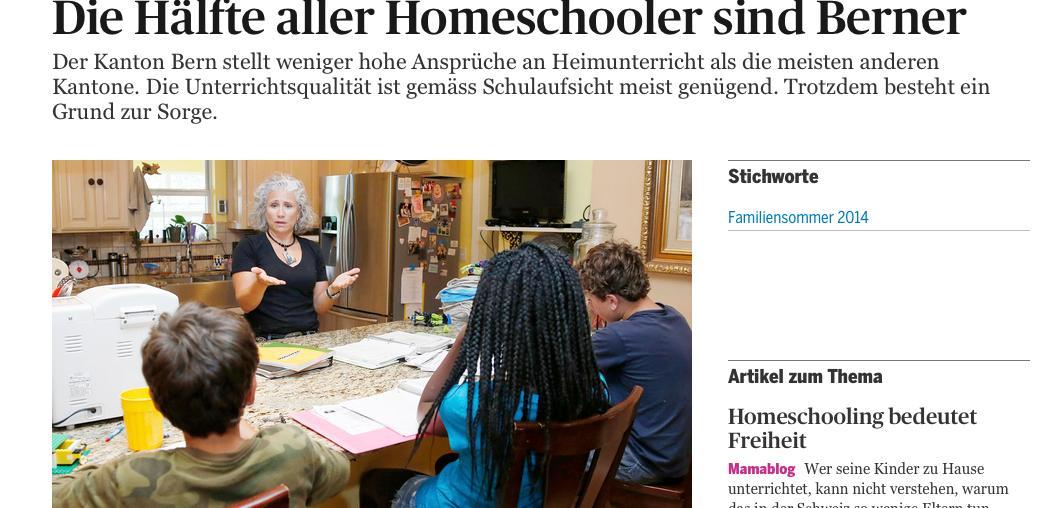 Artikel Homeschooling