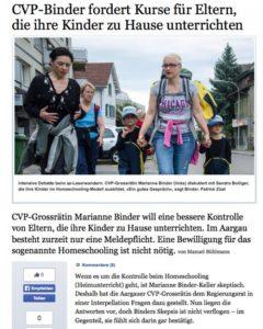 CVP-Binder, Artikel über Homeschooling, Homeschool News, Jan, Bernice Zieba
