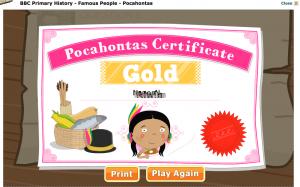 Pocahontas, BBC Primary History, Homeschool News, Jan und Bernice Zieba