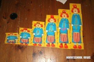 Clown-Spiel, verschiedene Grössen