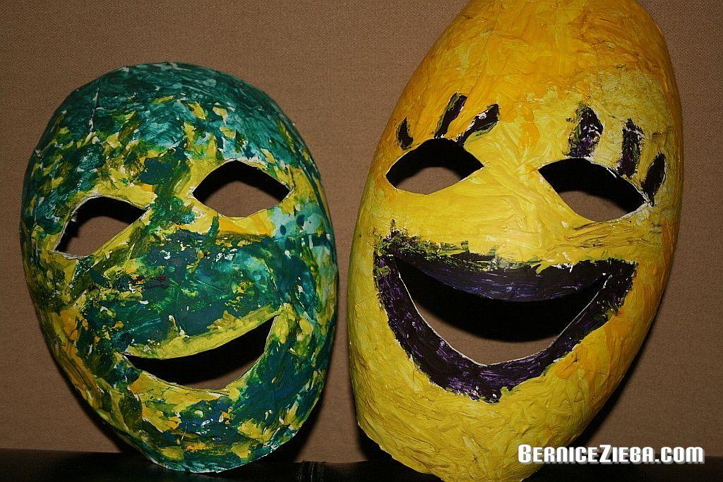 Masken aus Papiermaché selbst machen