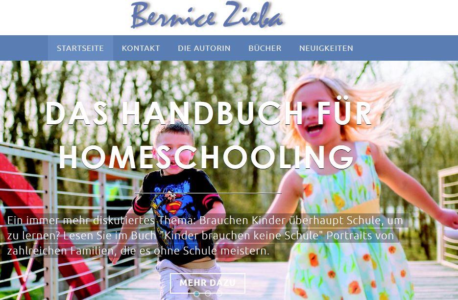 Bernice Zieba, Webseite
