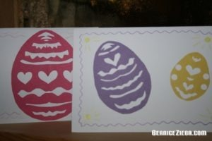 Osterei-Scherenschnitte, Paper Cut Easter Eggs, Oster-Grusskarten, Easter Greeting Cards
