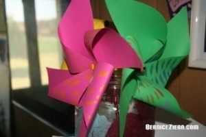 Windmühlen aus Papier