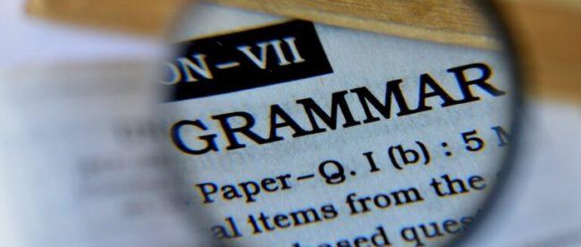 Grammar, Grammatik