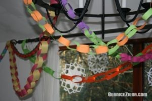 Paper Chains, Papierketten, Homeschool Blog and News, Bernice Zieba, Jan Zieba