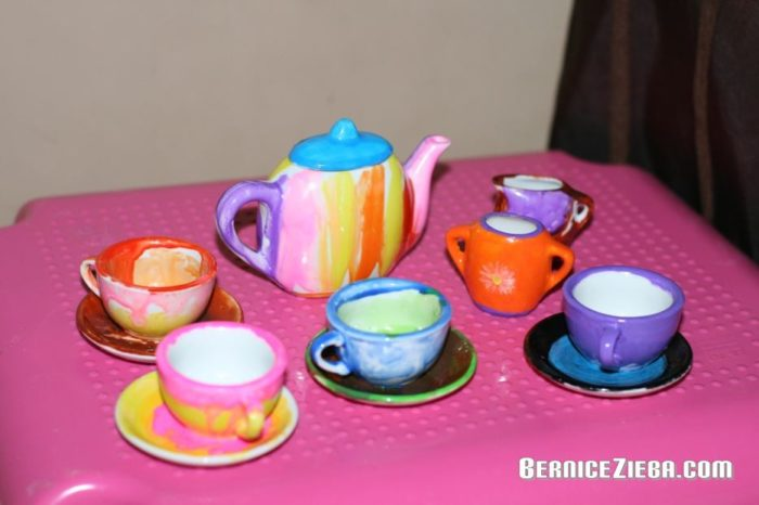 Paint a Tea Set, Ein Tee-Set selber bemalen