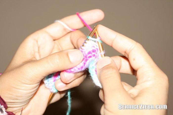 First Knitting, First Sewing, Erstes Stricken, Erstes Nähen