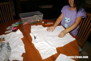 T-Shirt bemalen, Decorate t-shirt