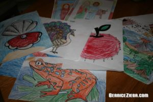 Ausmalen, Colour in, Bernice Zieba, Homeschool Blog