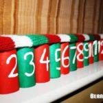 Adventskalender aus WC-Papprollen / Advent Calendar made of Toilet Paper Rolls